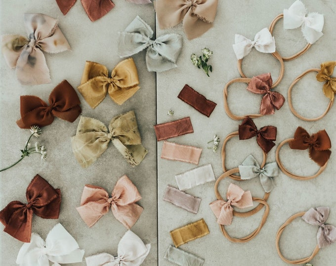 Headbands and Bows- Bloom collection | Peony colors | medium