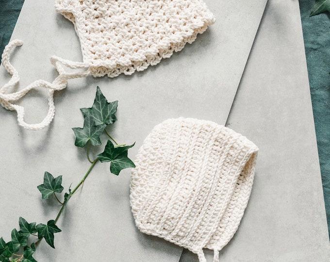 Bonnet/hat - Crochet bonnet | Pearl colors