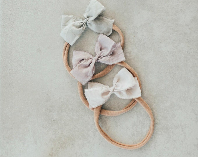 Headbands and Bows- Bloom collection | Peony colors | dainty