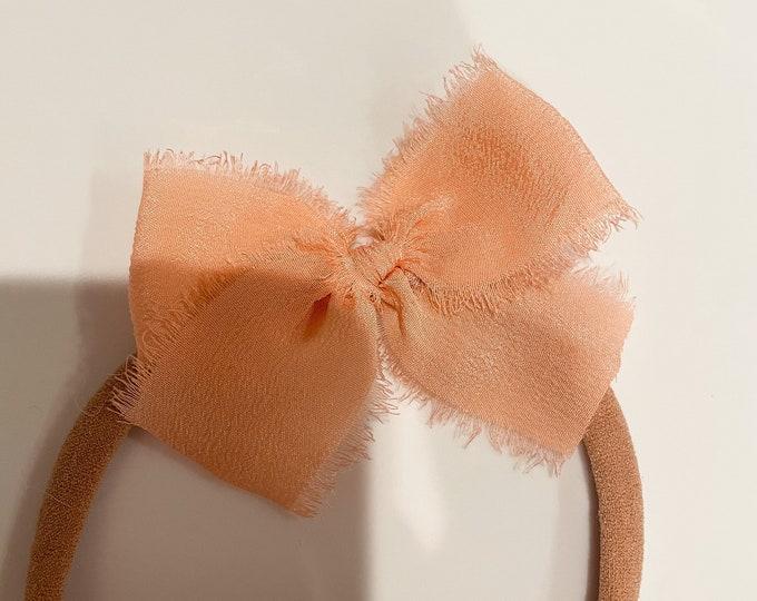 Headbands and Bows - Light Orange Color | small headband