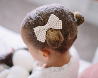 Headbands and Bows- The Meadow Sister Collection | Terra cotta check bow or headband