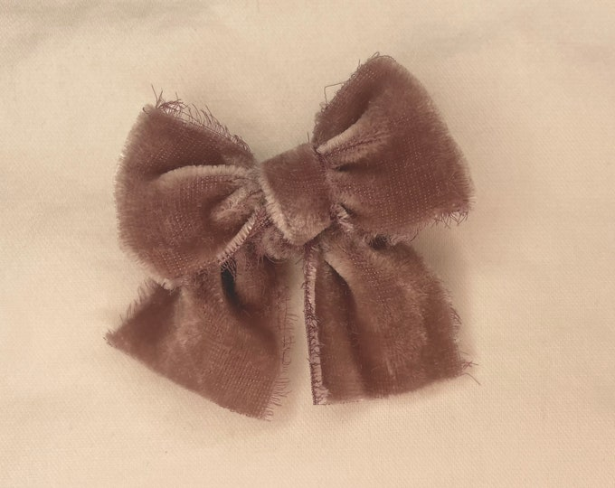 Headbands and Bows - Mauve velvet color | small size