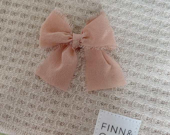 Headbands and Bows - Peach color | small