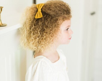 Headbands and Bows- The Meadow Sister Collection | Amber mustard bow or headband