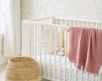 Baby Swaddle- the | Mae | Mauve Swaddle Blanket