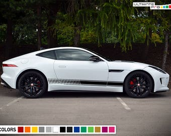 Decal Sticker Vinyl Side Racing Stripes Compatible with Jaguar F Type  2013-2017 9cb1bc460