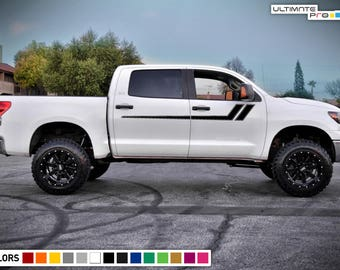 Sticker Kit Hood Stripes for Toyota Tacoma 4x4 Wrap Modern Turbo Lifted start mirrors Arrow