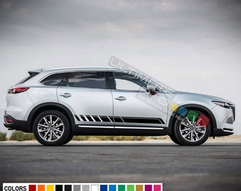 2x Decal Graphic Stripe Kit for Mitsubishi Outlander Carbon 2016 2017 2018 Trunk