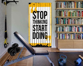 Exercise room quote etsy