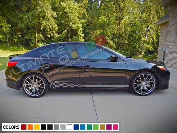 Decal Stripe compatible with Acura ILX 2013 2014 2015 2014 2015 2016 2017 2018