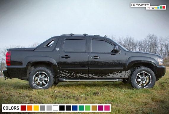 Chevrolet Avalanche 2016 >> Decal Sticker Door Mud Splash For Chevrolet Avalanche Polish Etsy