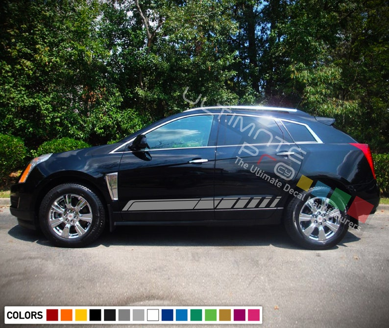 set of Stripe Kit Decal Sticker Graphic Compatible with Cadillac SRX 2016 present  Suv Mats Seat Cover