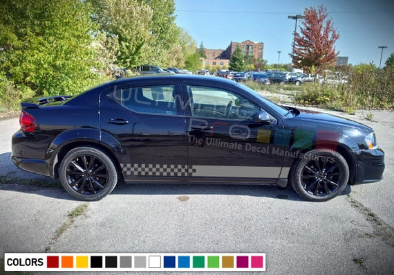 Dodge Avenger 2016 >> Sticker Decal Door Off Road Stripe Kit For Dodge Avenger 2016 2018 Sport Tune Skirt Wing