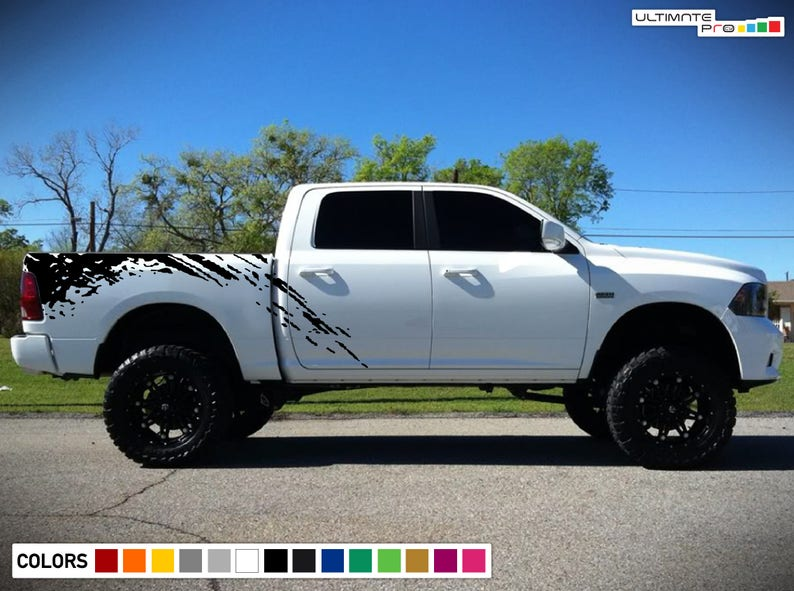 7f235e8945 Off-Road Bed Splash Kit Decal Graphic Vinyl Compatible with