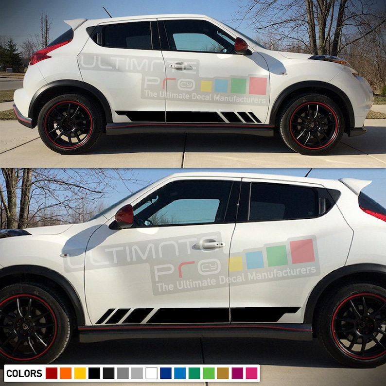 Decal Sticker Vinyl Side Sport Racing Stripes Compatible with Nissan Juke 2010-2017 SUV Eco Hybrid