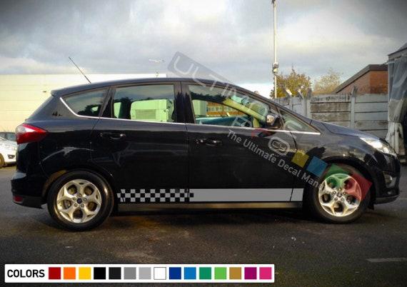2 Decal sticker Stripe kit for Ford KUGA sport line ST SUV UPGRADE emblem rims