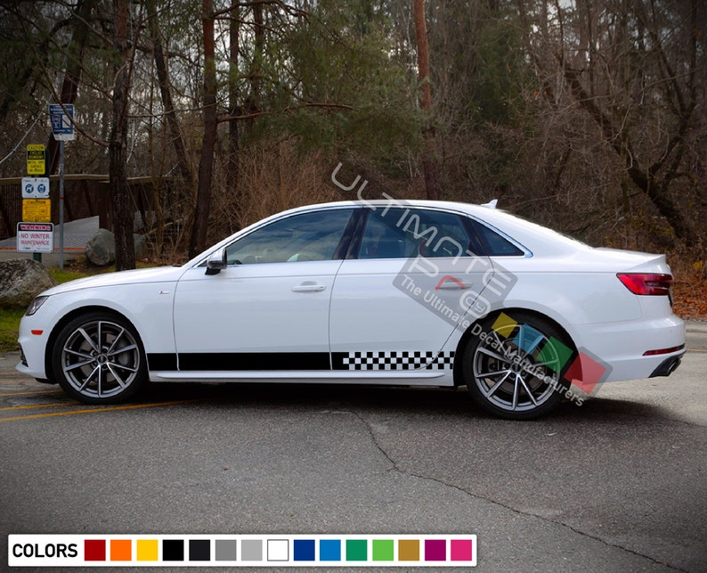 Sticker Decal Graphic Side Stripe Kit For Audi A4 2004 2018 Etsy