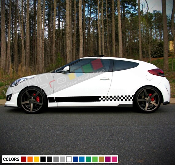 Sticker Decal for Hyundai Veloster LED Light Front Tail 2016 2019 sport race tune