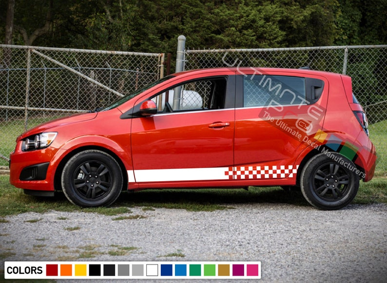 Stripe Kit Sticker Graphic Decal for Chevrolet Sonic Headlight Wing Mirror Lip