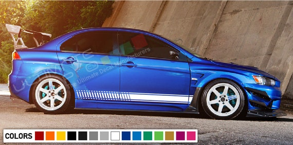 Decal Sticker Stripe For Mitsubishi Lancer Evolution Evo 10 X Spoiler Lip  vent