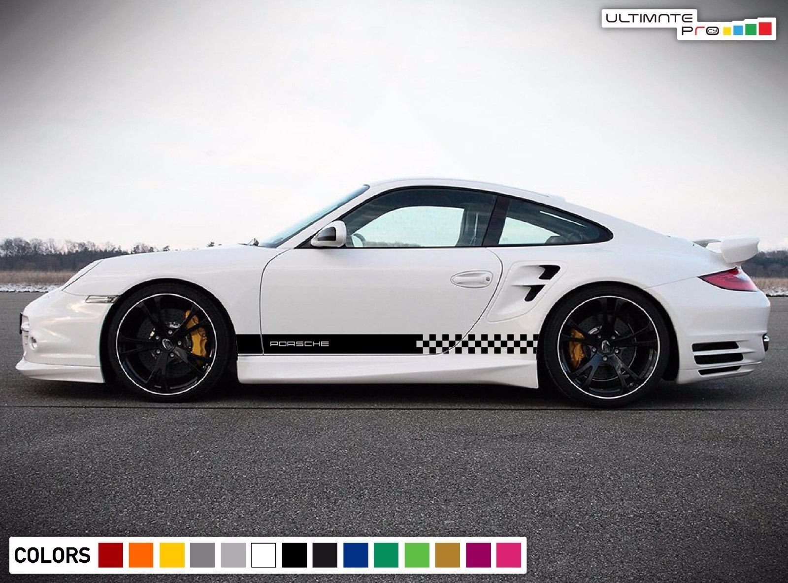 Sticker Decal Vinyl Side Door Stripes For Porsche 911 997