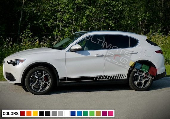 Sticker Decal Stripe Kit for Alfa Romeo Stelvio 2017 Door Handle Trim Emblem suv