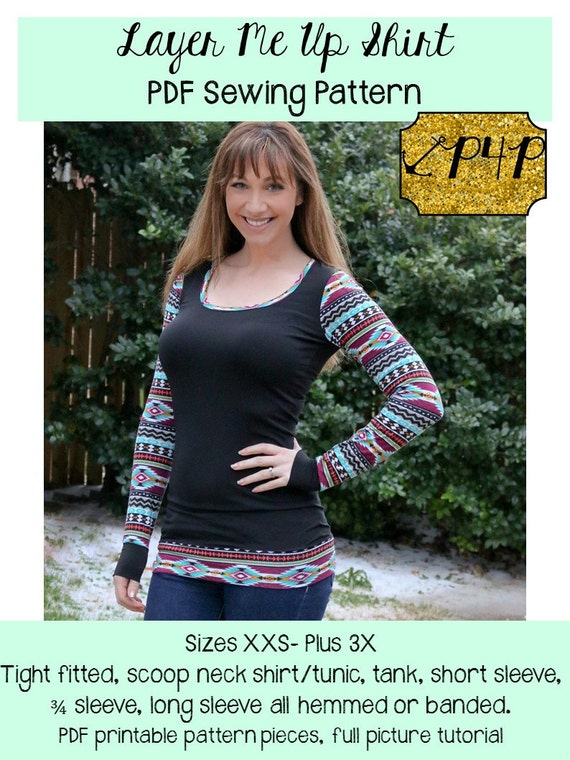 Layer Me Up Shirt Tunic Sewing PDF Pattern by Patterns for Etsy Beauteous Patterns For Pirates