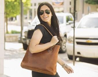 Leather Tote Bag // Leather Work Bag // Leather Shoulder Bag