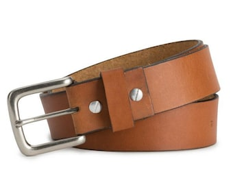 Brothers Leather Belt (tan)