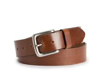 Brothers Leather Belt (dark Brown)