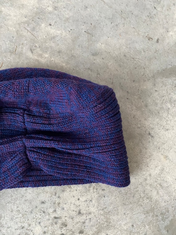 Vintage Patricia Underwood Purple Blue Wool Turba… - image 3