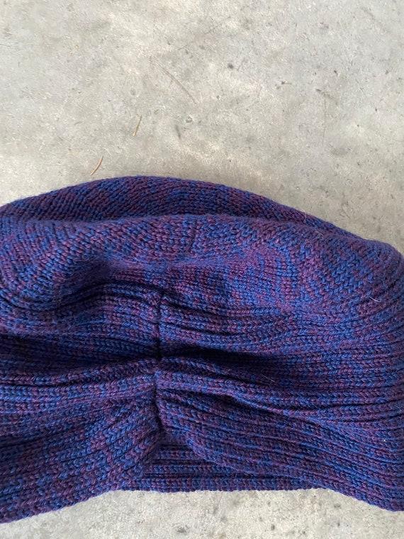 Vintage Patricia Underwood Purple Blue Wool Turba… - image 6