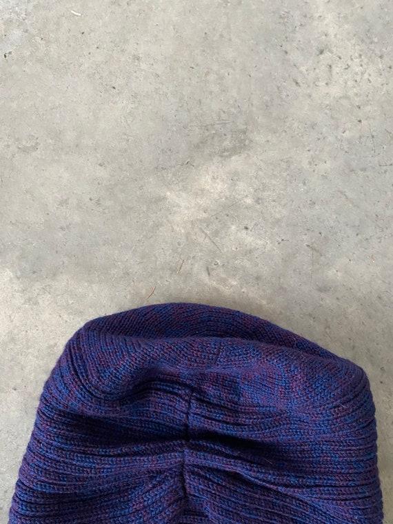 Vintage Patricia Underwood Purple Blue Wool Turba… - image 5