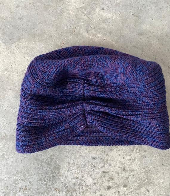 Vintage Patricia Underwood Purple Blue Wool Turba… - image 1