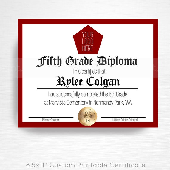 5th 6th 7th 8th Grade Graduation Party Printable Digital Etsy
