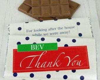 Thank You Chocolate Bar - personalised chocolate - personalised candy - thank you gifts - thank you chocolates