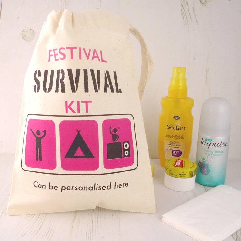 size 40 38bfe 76adf Festival überleben Tasche - Festival-Kit - Festival liefert - Seesack -  Survival-kit