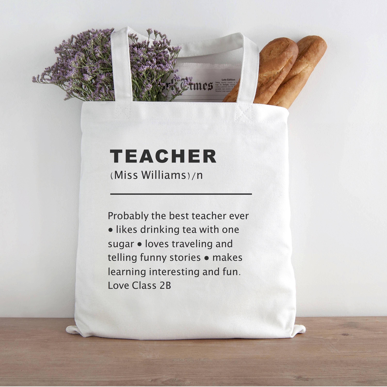 Lehrer Definition Tasche Lehrer am besten Lehrer Geschenk   Etsy