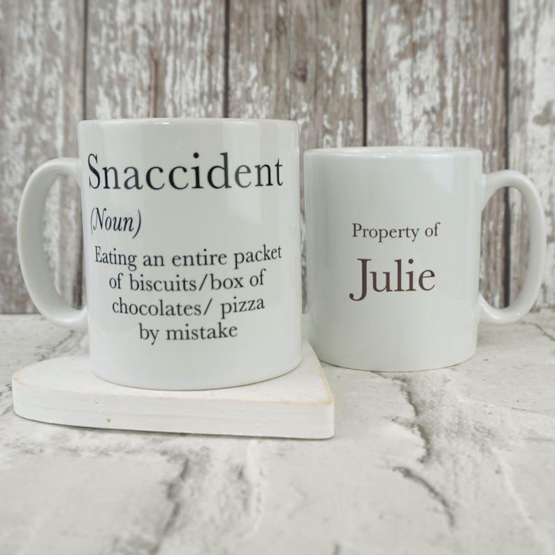 8b64ac838ee Snaccident Mug personalised mug birthday mug