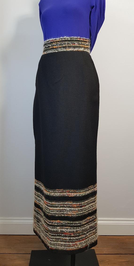 AROLA Finland vintage woven wool maxi skirt SZ XS