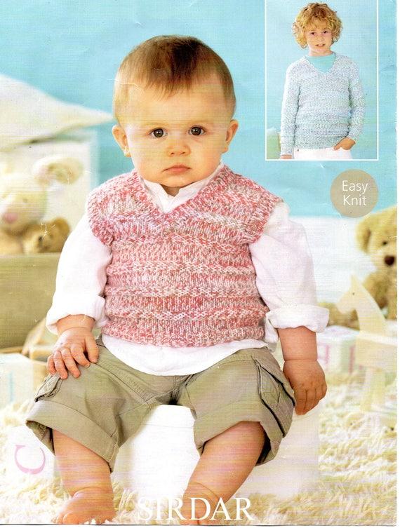 Sirdar Peeakboo Dk Baby Tank Top Vest Jumper Knitting Etsy