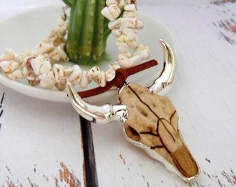 Longhorn Beaded Bracelet, Handmade Turquoise Bracelet, Texas Gifts