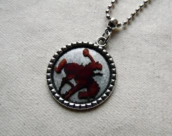 Bucking Horse Jewelry, Bronc Rider, Bronco Riding, Bucking Bronco, Rodeo Necklace, Rodeo Lover Necklace, Cowgirl Jewelry, Western Jewelry