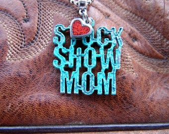 Stock Show Mom Necklace, Stock Show Jewelry, Show Mom Gift, FFA Mom Necklace, 4H Mom, Stock Show, Livestock Show, Farm Girl, Country Girl