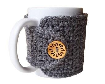 Grey Mug Cozy - Mug Sweater- Birthday Gift