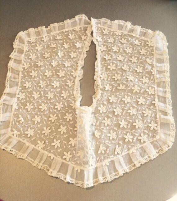 Wedding Dress Collar Circa 1930s, French Organza B