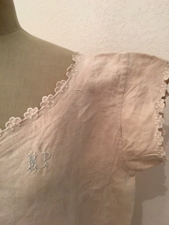 French Organic Linen Nightdress, Monogrammed and e