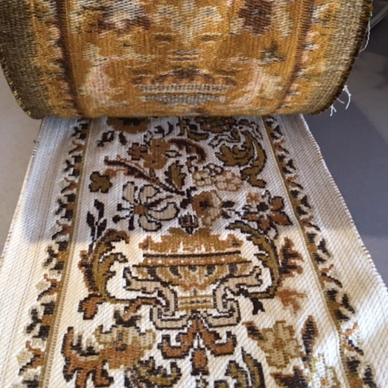 French Wool Weave Wide Trim Carpet or Rug Trim Passementerie Upholstery Wide Trim 20.5 cm Whole Roll For Sale,