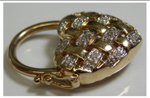 Bracelet Padlock Charm, Diamond Heart Padlock/Pend
