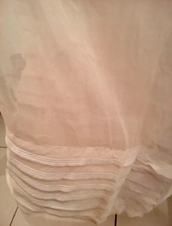 Vintage French Organza Lined Skirt, Organza Materi